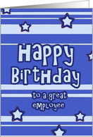 happy birthday to a great employee stars stripes card