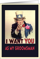 Please be my Groomsman, invitation card, vintage, card