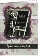 You are invited, Custom Date, High School Equivalency Diploma card