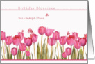 to a wonderful friend, blessings,christian birthday card,tulips card