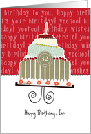 Happy birthday, Ian, customizable birthday card, cake, card