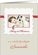 Merry first Christmas to my granddaughter, customizable card