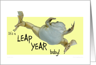 Leap year baby card