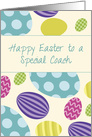 Coach Easter Colorful Eggs card