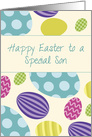 Son Easter Colorful Eggs card