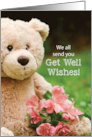 From Group, Get Well Bearable, Teddy Bear Flowers, Religious card