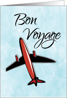 Bon Voyage Airplane in Blue Sky card