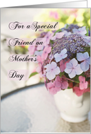 Happy Mother's Day for a Special Friend Like a Mother, Pink Flowers card