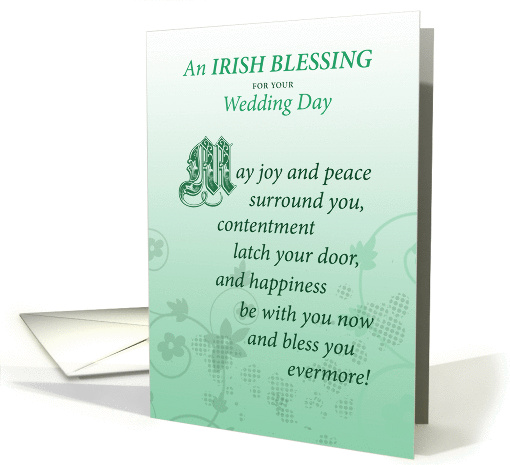 Irish Wedding Day Marriage Blessing Congratulations Card 1043019