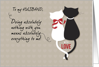 Cats, Husband Valentine's Day, Black & White card