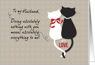Black & White Cats, Husband Wedding Anniversary card