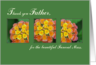 Priest Thank You Father, Memorial Funeral Mass, Flowers card