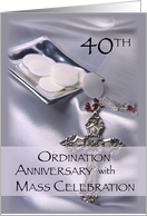 40th Ordination Anniversary with Mass Celebration Invitation card