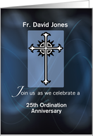 Personalize Name and Year, 25th Ordination Anniversary of Priest card