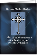 Invitation Personalize Name and Year, 40th Anniversary of Priest card