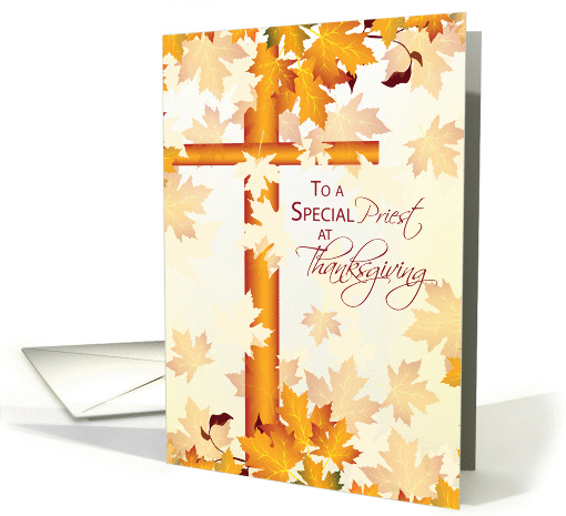 priest happy thanksgiving  catholic card  1186050