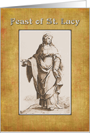 Feast of St. Lucy, or St. Lucia card