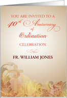 40th Anniversary of Ordination, Invitation for Priest card