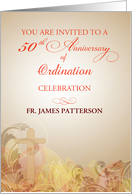 50th Anniversary of Ordination, Invitation for Priest card