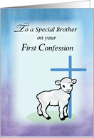 Brother First Confession, Lamb, Cross card