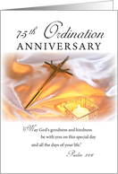 75th Ordination Anniversary, Cross Candle card