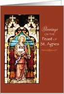 St. Agnes Feast Day Blessings card