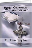 50th Ordination Anniversary Invitation, Custom Name, Personalized, Hos card
