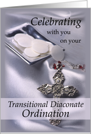 Transitional Diaconate Ordination Congratulations Deacon Hosts and Cro card