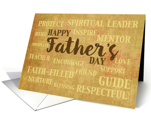 Religious Father's Day, Qualities of Father card (1384816)