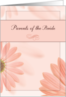 Parents of the Bride Congratulations Blush, Coral, Orange Daisies card