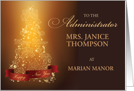 Administrator Thank You Christmas, Personalize Business card