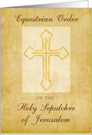 Congratulations, Equestrian Order of the Holy Sepluchre of Jerusalum card