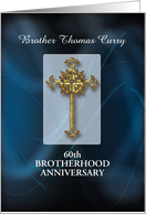 Invitation to 60th Brotherhood Anniversary, Customizable Name, Year card