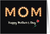 From All of Us, Mom, Mother's Day, Marquee Light Bulb Letters card
