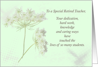 Retired Teacher Thank You Wildflowers card