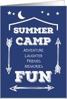 Camp Fun Navy Blue, White Arrows card