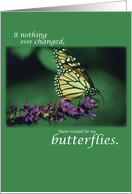 Health Encouragement, Get Well, Butterfly and Flowers on Green card