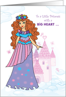 Big Sister Purple, Pink Princess and Castle card