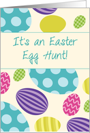 Invitation to Easter Egg Hunt, Colorful Eggs card