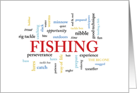 Fishing Birthday in Words card