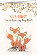 Our 1st Thanksgiving as Newlyweds, Woodland Foxes card