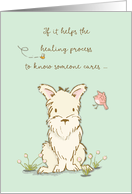 Get Well Dog, Care Helps Healing Process card