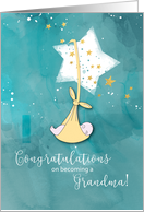 Becoming a Grandma Congratulations, Baby in Stars card