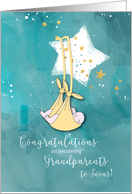 Grandparents to Twins, Congratulations, Baby in Stars card