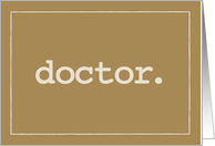 Doctor Definition on Doctors' Day card