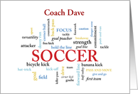 Custom Name Soccer Coach Thank You in Words card