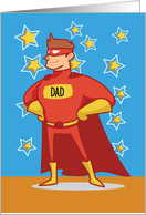 Dad Superhero on Father's Day card