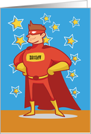 Custom Name Superhero on Father's Day card