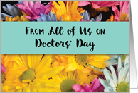 From All of Us on Doctors' Day Thanks Gerbera Daisies card
