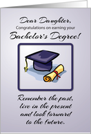 Daughter, Bachelor's Degree Graduation, Remember the Past card